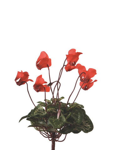 Artificial Cyclamen Bush, Red