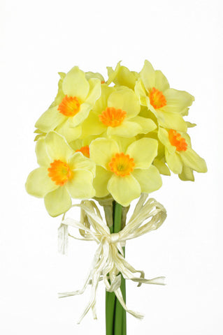 Artificial Daffodil/Narcissi Bunch, Yellow/Orange