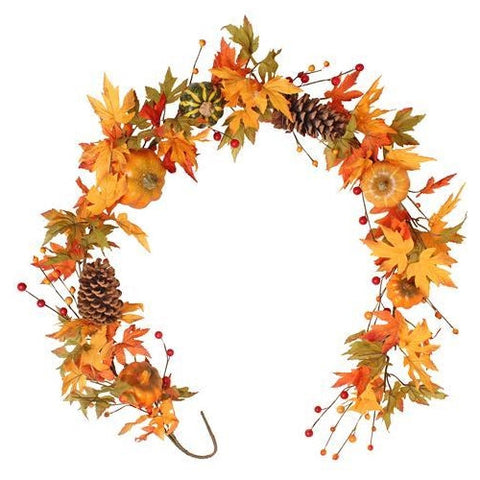 Artificial Autumnal Pumpkin Garland