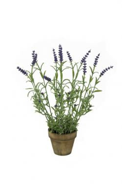 Artificial Lavender, Potted
