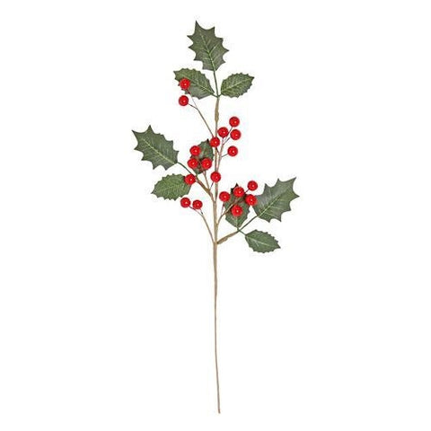 Artificial Holly & Berry Spray 45cm