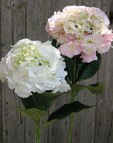 Artificial Hydrangea Stem, White