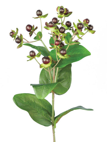 Artificial Hypericum, Burgandy