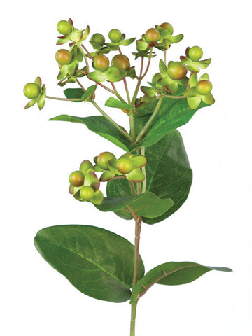 Artificial Hypericum, Green