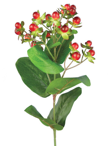 Artificial Hypericum, Red