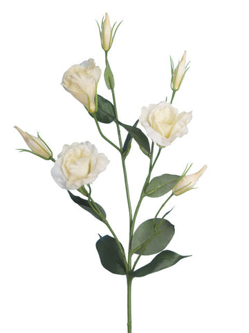 Artificial Lisianthus Spray, Ivory