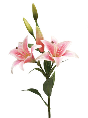 Artificial Tiger Lily, Pink