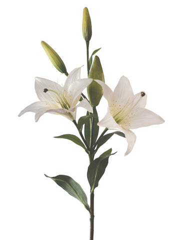 Artificial Tiger Lily, White