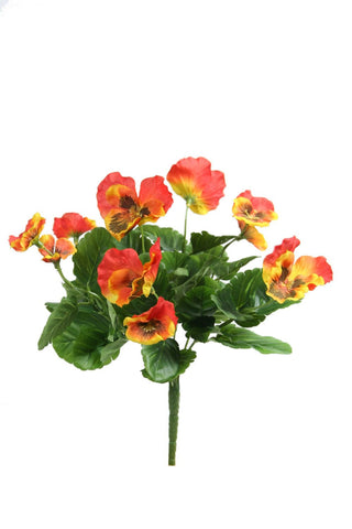 Artificial Pansy Orange