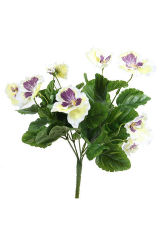 Artificial Pansy White