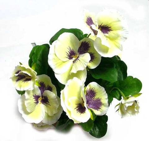 Artificial Pansy Purple