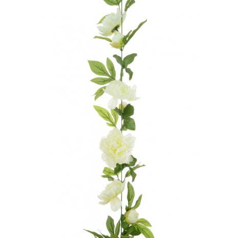 Copy of Artificial Peony Garland - Ivory