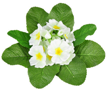 Artificial Primula Bush, White