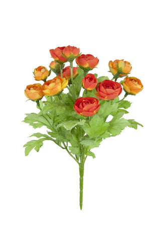Artificial Ranunculus spray, Orange