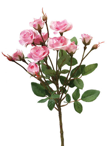 Artificial Rose Spray, Deep Pink