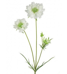 Artificial Scabiosa Spray - Soft Blue