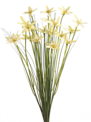 Artificial Star Flower Spray, Yellow