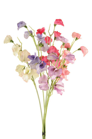 Artificial Sweet Peas - Bunch of Six Stems