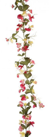 Artificial Sweet Pea Garland