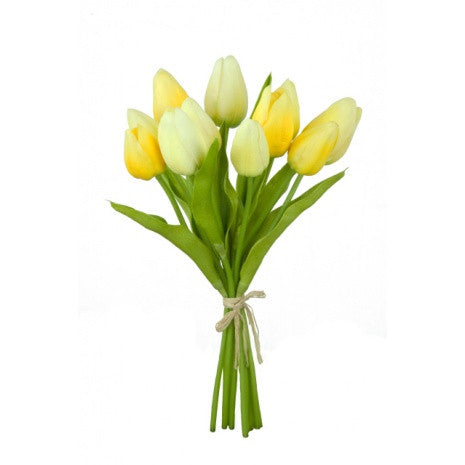 Artificial Tulips Bundle, Yellow