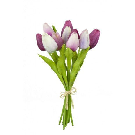 Artificial Tulips Bundle, Pinks Mix