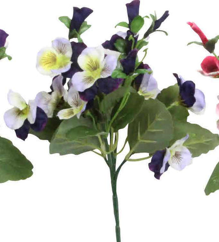 Artificial Viola Plant, Blue