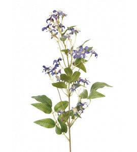 Artificial Wild Clematis Spray - Blue
