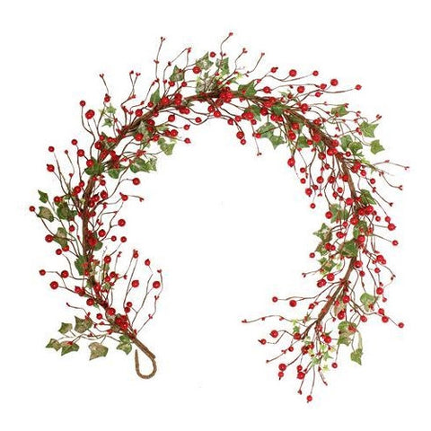 Christmas Garland; Woodland Berry & Ivy Garland, 5ft