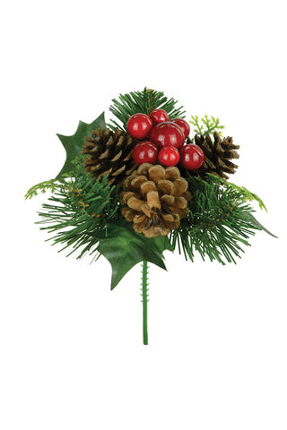 Christmas Pick, Artificial Natural Foliage
