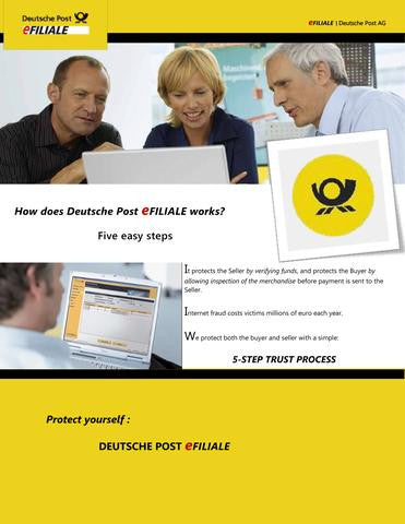 Bike Buying Scam through Deutsche Post efiliale - BEWARE