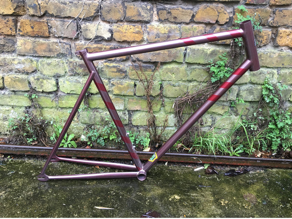 Handbuilt Custom Single Speed Frame, Reynold 631 Tubing, Red, Size 56cm ST, 56.5cm TT