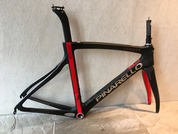Pinarello Dogma F8 Frameset, Black and Red, Size 53cm
