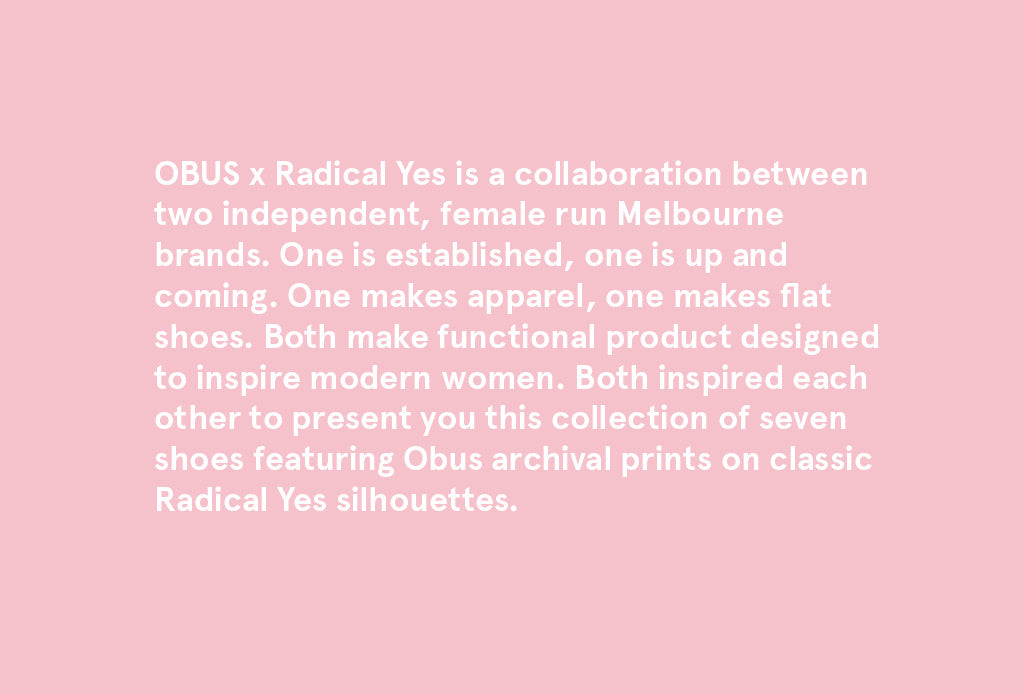 OBUS x Radical Yes Look Book