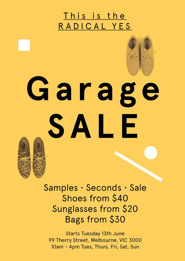 Radical Yes Garage Sale Flyer