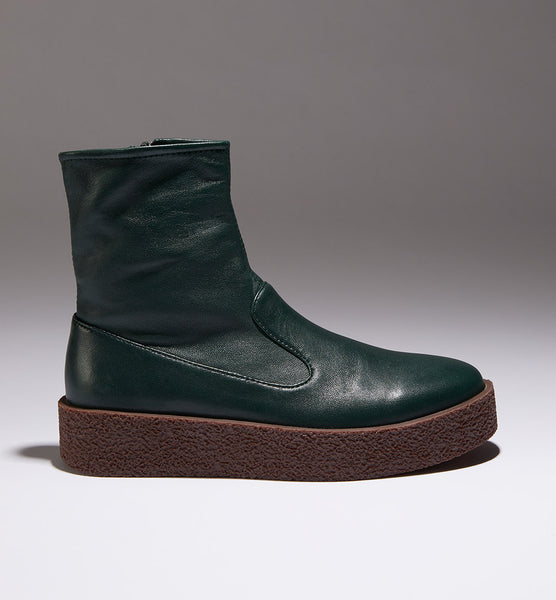 Radical Yes 'Lunar' Bootie - Bottle Green Leather