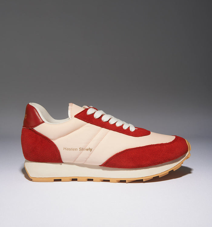 Radical Yes 'Cloud' Retro Trainers - Parrot Red