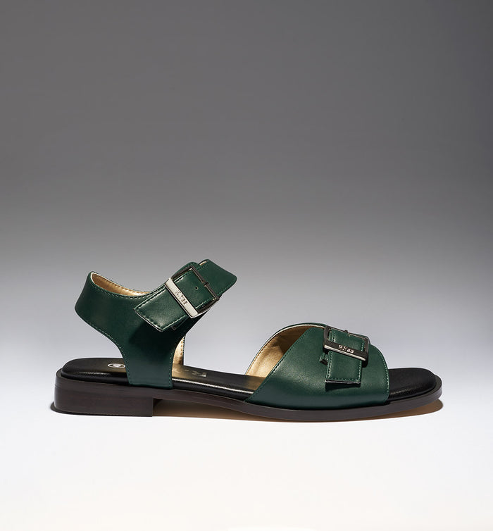 Radical Yes - 'Sun Ra' Sandal Bottle Green Eco Pu - Vegan