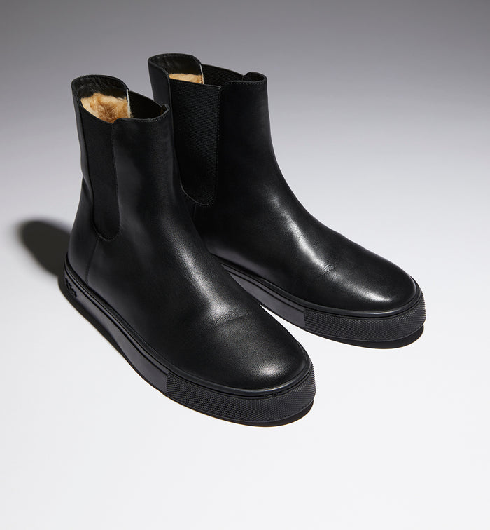Radical Yes 'Everything' Chelsea Boot - AW21 Black Leather / Australian Merino Wool Lining