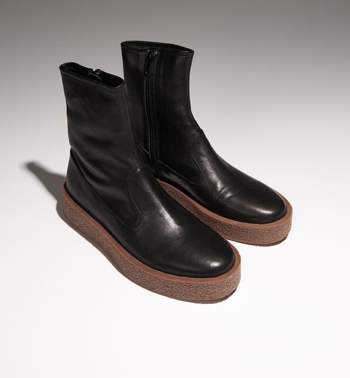 Radical Yes 'Lunar' Bootie - Black Leather