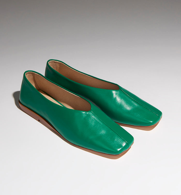Radical Yes 'Utopia' Square Toe - Jade Leather