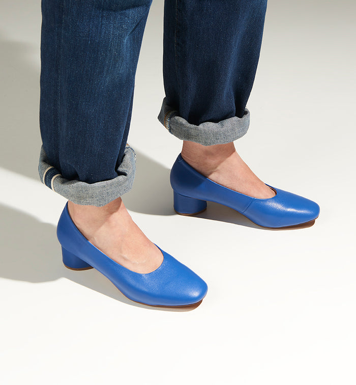 Radical Yes 'Awake' Day Heel - Royal Blue Leather