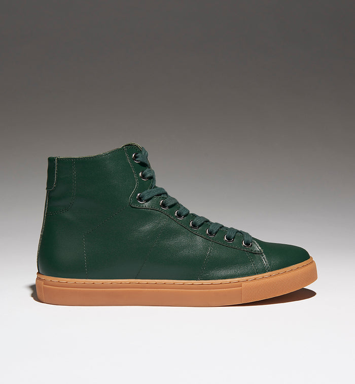 Radical Yes 'Saturn Returns' - Bottle Green Leather Australian Merino Shearling