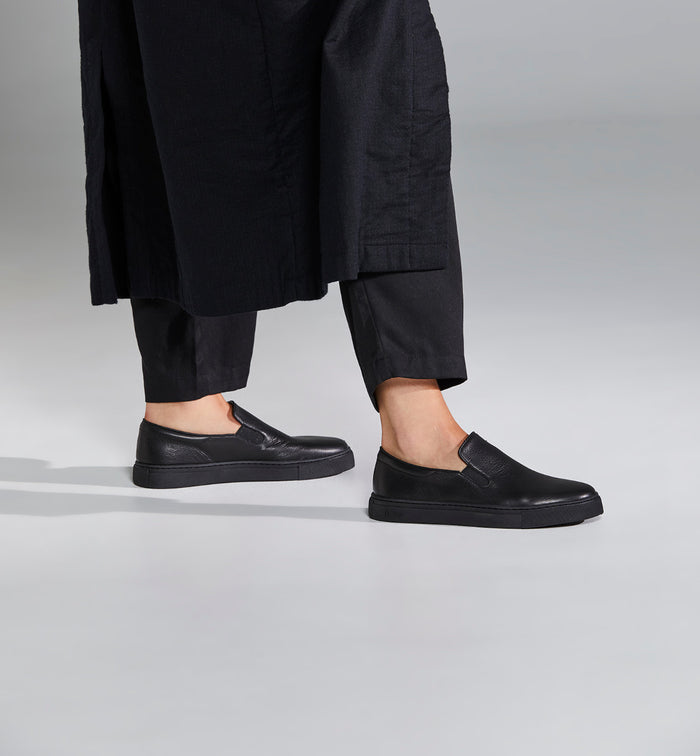 Radical Yes 'Always' Elevated Slip On Trainer - Black Leather