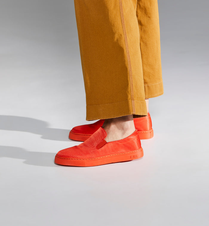 Radical Yes 'Always' Elevated Slip On Trainer - Coral Red Nylon