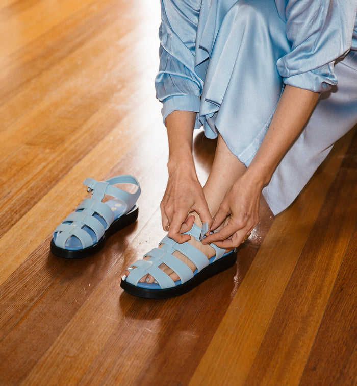 Radical Yes 'Arkestra' Fisherman Sandal - Ice Blue (ECO PU Non-Leather)