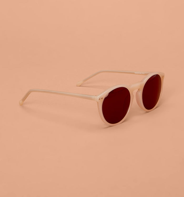 Radical Yes 'Joy' Handmade Sunglasses - Milky Pink