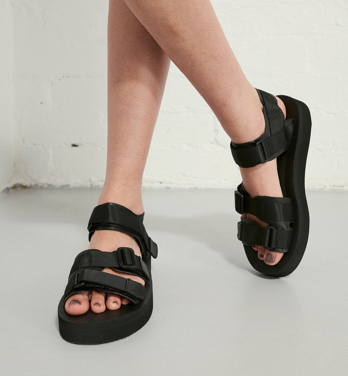 Radical Yes 'Neptune' Athletic Sandal - Black Leather