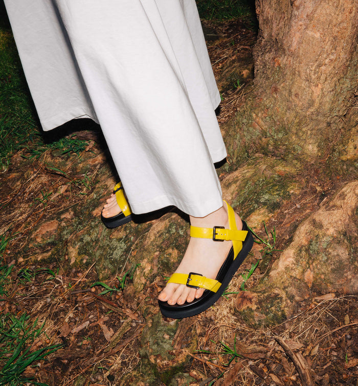 Radical Yes 'Peace By Peace' Sandal - Lemon Eco-PU (Vegan)