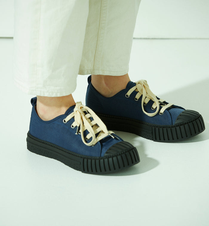 Radical Yes 'The Future' Low Cut Lace Up - Navy Nylon (Non-Leather Product)