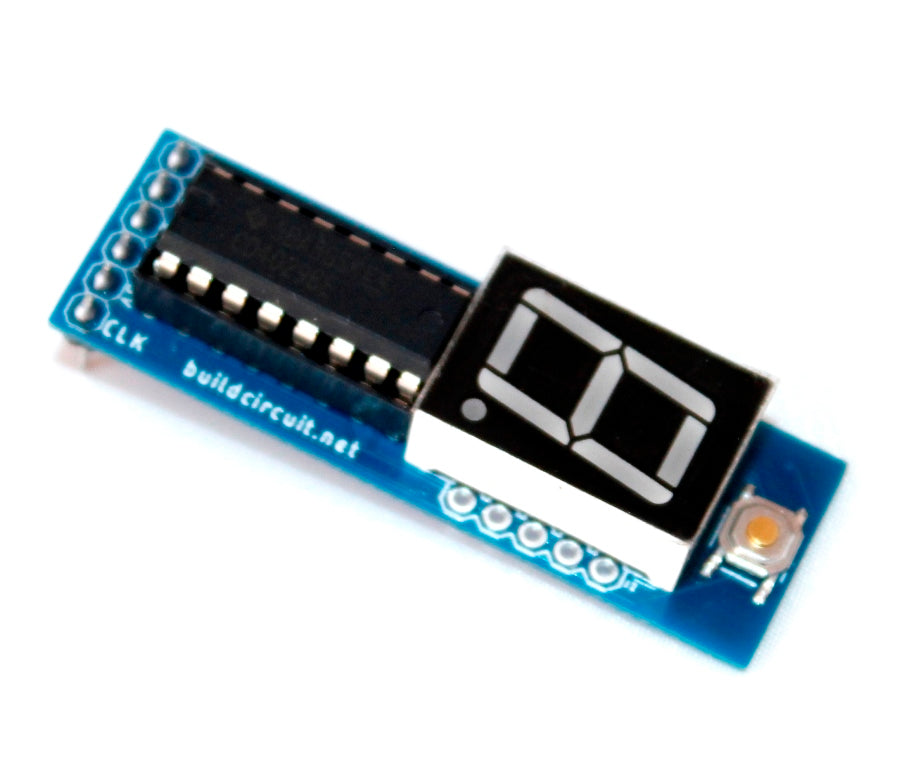 CD4029 based up and down counter for Arduino and NE555